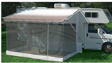 Screened Trailer Awning
