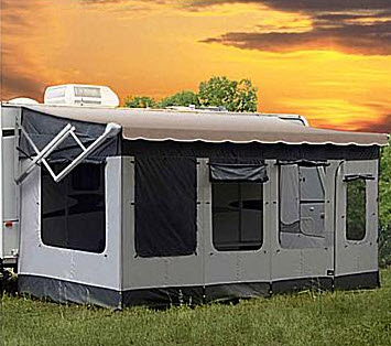 thinking about getting an enclosed rv awning room welcome to rv awning world. Black Bedroom Furniture Sets. Home Design Ideas